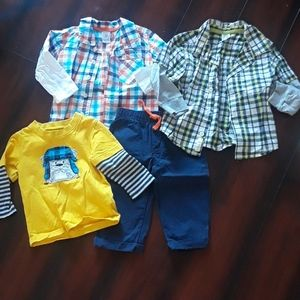 Carters shirts and pants